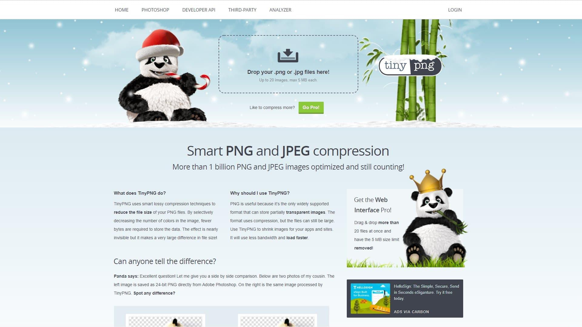 干净免费的图片压缩工具集(Web版/应用程序版)