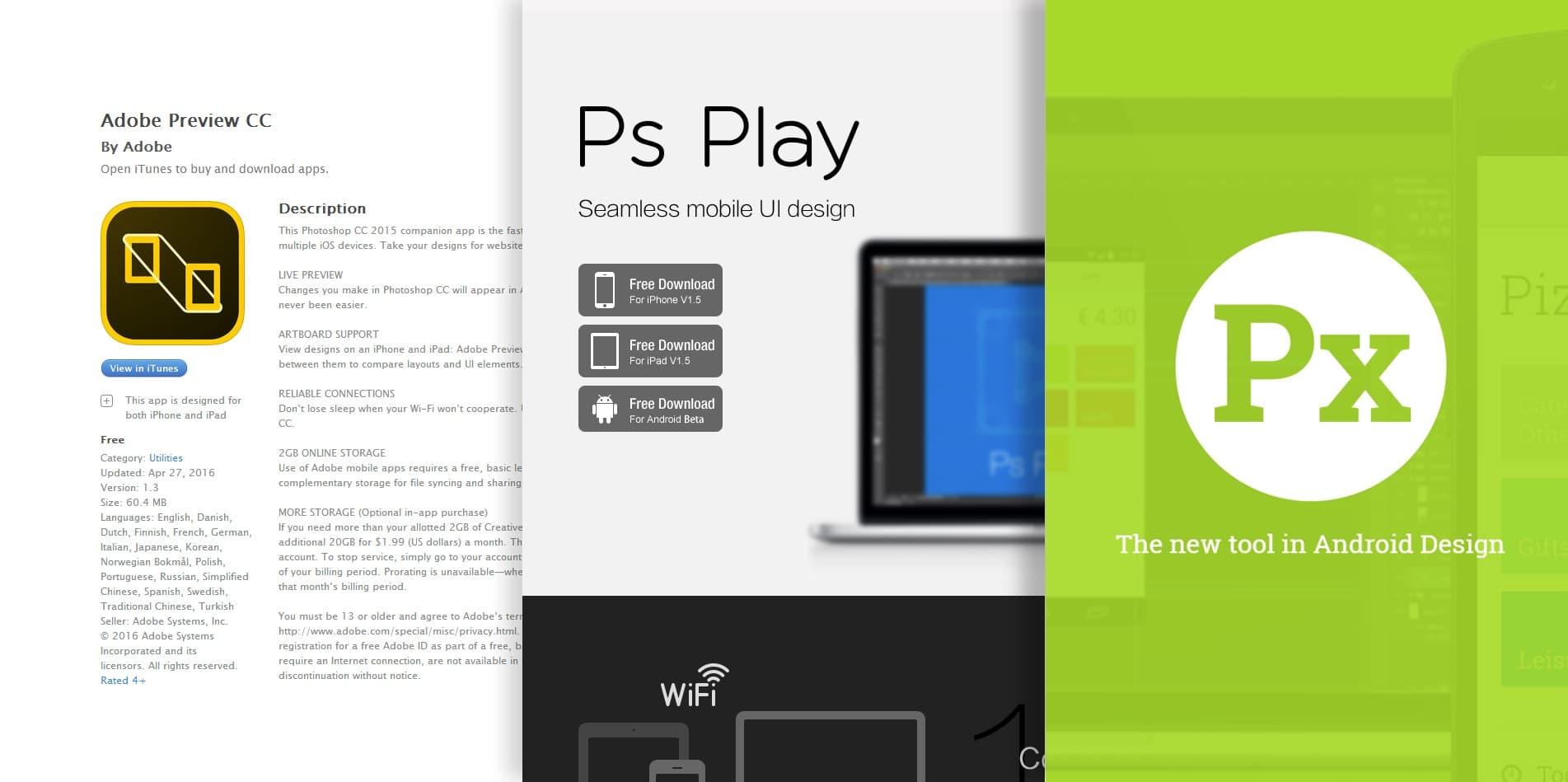 移动设备实时预览PS设计稿