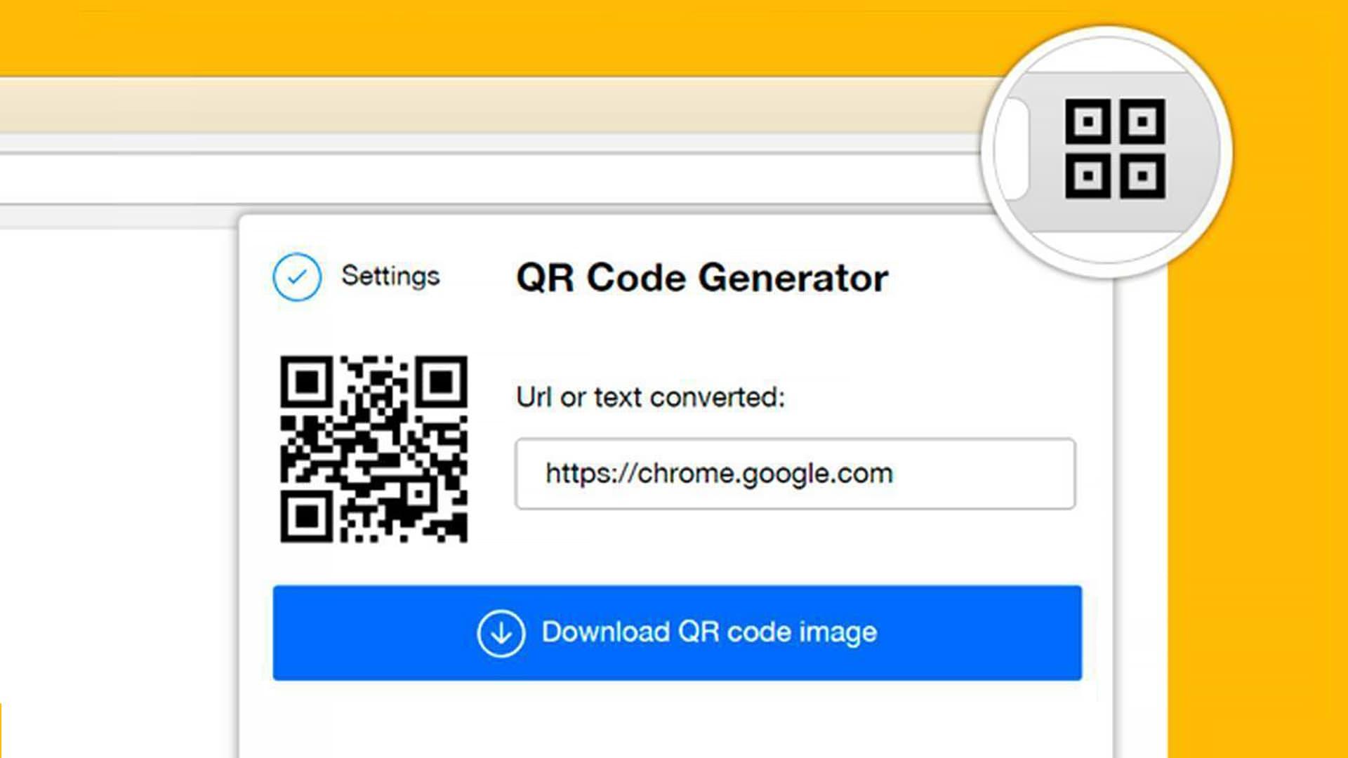 Chrome免插件启用生成二维码功能,可自定义内容
